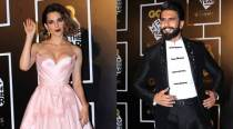 Kangana Ranaut turns heads at award nite, bonds with Ranveer Singh, see pics