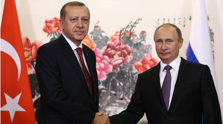 Tayyip Erdogan, Vladimir Putin, Syria, Syria Idlib, Russia on Syrian rebels, gas attack on Syria Idlib, Russia-Turkey on Syria, world news, indian express news