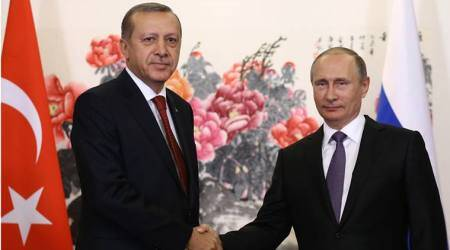Vladimir Putin hosts Turkey's president for talks focusing on Syria