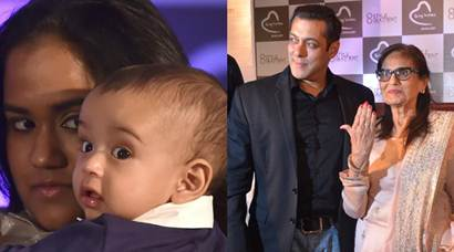 Salman Khan shares a Prem Ratan Dhan Payo moment with mom Salma, nephew Ahil
