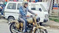 Salman Khan rides Royal Enfield on Manali roads during Tubelight shoot