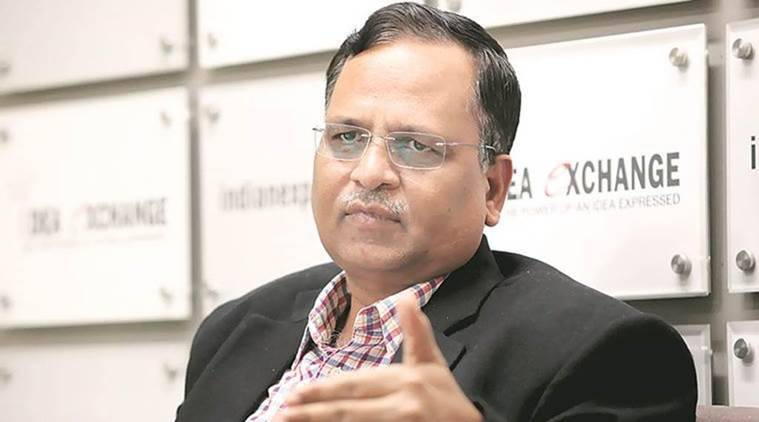 Delhi PWD minister Satyendra Jain at the Indian Express idea exchange in Noida on Dec 11th 2015. Express photo by Ravi Kanojia. *** Local Caption *** Delhi PWD minister Satyendra Jain at the Indian Express idea exchange in Noida on Dec 11th 2015.