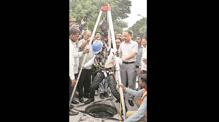 Chandigarh sewer workers, Chandigarh, Mayor Arun Sood, latest news, latest india news