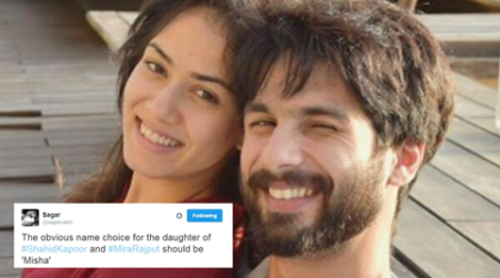 This guy had predicted Shahid Kapoor and Mira Rajput's daughter's name weeks ago