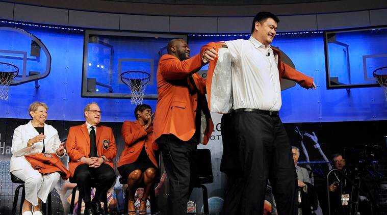 Shaquille O'Neal, Allen Iverson, Yao Ming, basketball hall of fame, basketball hall of fame 2016, sports news, sports