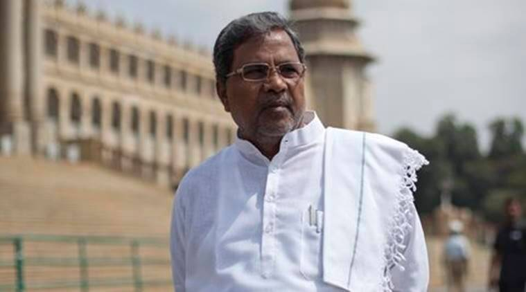 BANGALORE, OCTOBER 02, 2013 : Karnataka Chief Minister Siddaramaiah is seen in a Walk the Talk shoot with the chief editor of Indian Express, Shekhar Gupta at the Vidhana Soudha, Bangalore, for NDTV. (PHOTO BY JYOTHY KARAT)