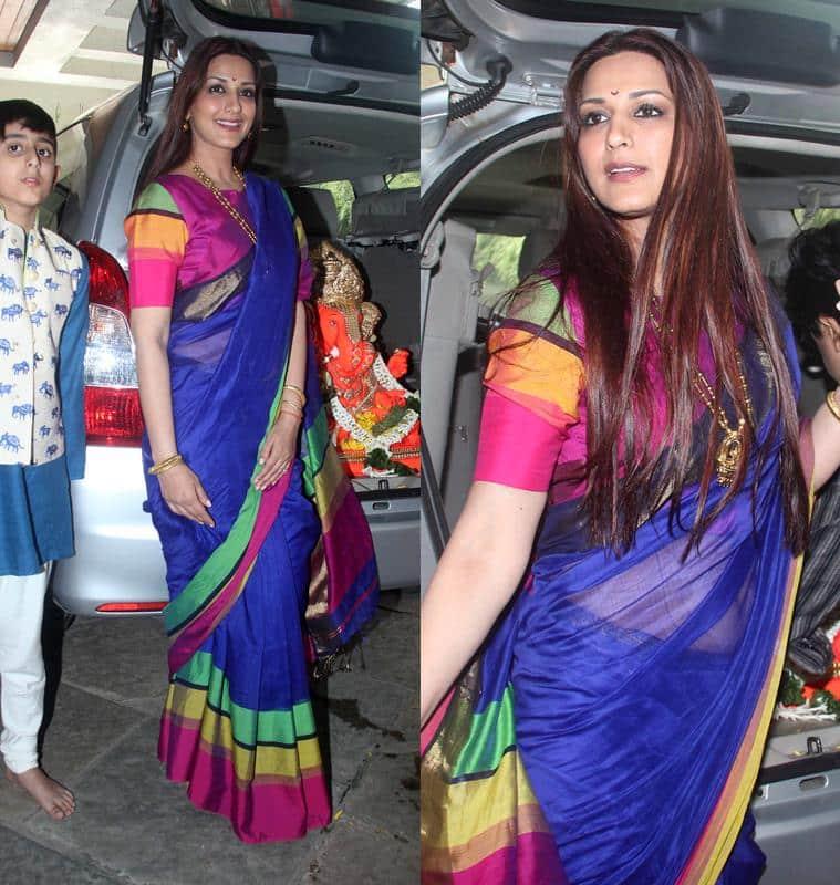 Sonali Bendre in a sari. (Source: Varinder Chawla)