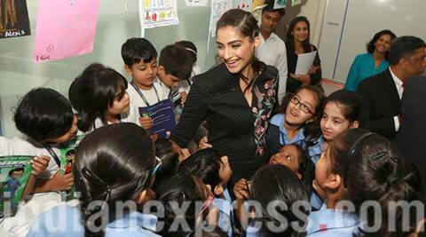 Sonam Kapoor launches world's largest lesson  programme with children