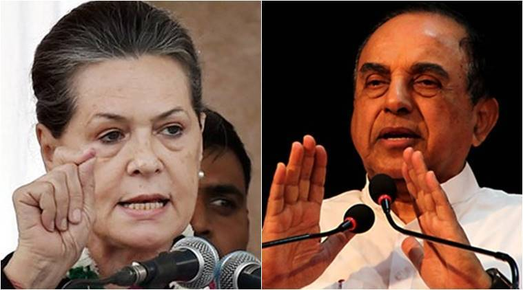 sonia gandhi, swamy, rahul gandhi, Subramanian Swamy, congress, bjp, national herald case, herald case, congress bjp, india news, indian express