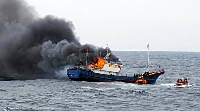 South Korea, China, South Korean fishing boats, Chinese fishing boat, illegal fishing, South Korea news, China news, world news, latest news, Indian express