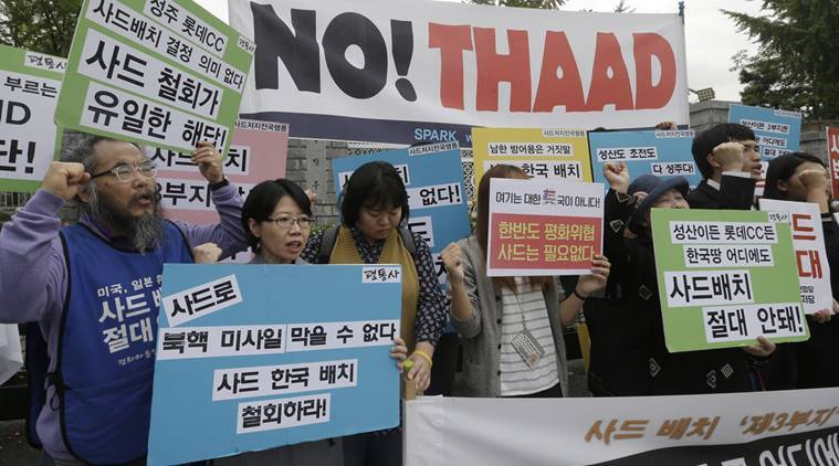 south korea, us missile, thaad, yonhap, anti missile system, world news, indian express, North Korea threat, US South Korea, Korea, THAAD, US missile Korea, China Korea, news, latest news, world news, Korea news, international news, US news, China news