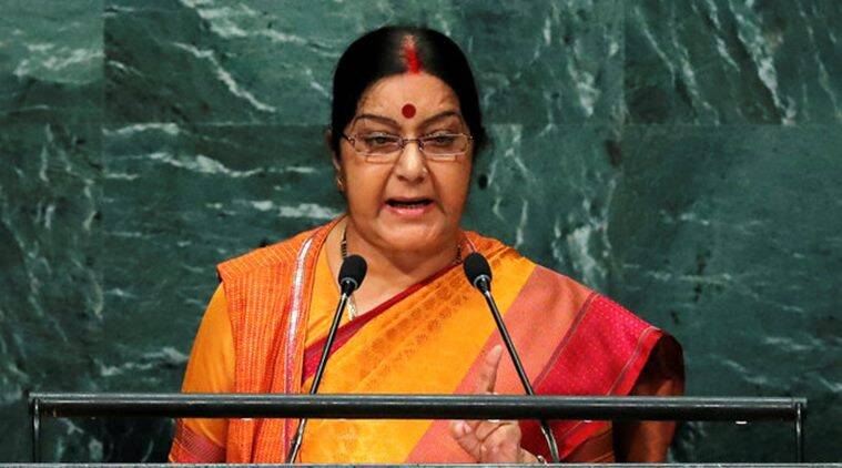 sushma swaraj, unga, sushma swaraj unga speech, pakistan, india pakistan, pakistan terrorism, pakistani terrorists, swaraj unga, unga pakistan, uri attack, pathankot attack, nawaz sharif, pm sharif, swaraj pakistan terrorism, balochistan, un general assembly, indian express news, india news, latest news, terrorism in india