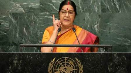 India wanted friendship, we got Pathankot and Uri: Sushma Swaraj censures Pak in her reply at UN