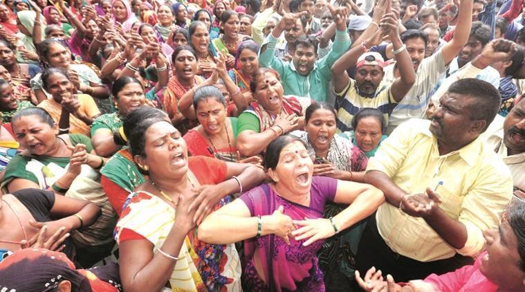 safai workers strike in ahmedabad, gujarat safai workers strike, strike safai karmachari, vijay rupani, india news, indian express,