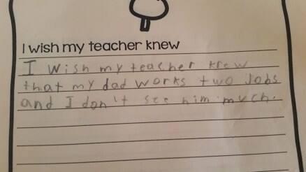 #IWishMyTeacherKnew: A teacher's experiment has astounding results on social media