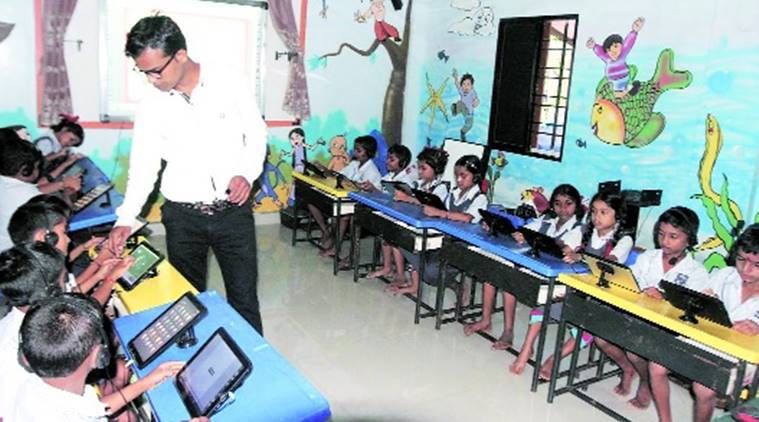 teachers day, thane schools, thane district schools, Pashtepada, zilla parishad school, digital zilla parishad school, india news