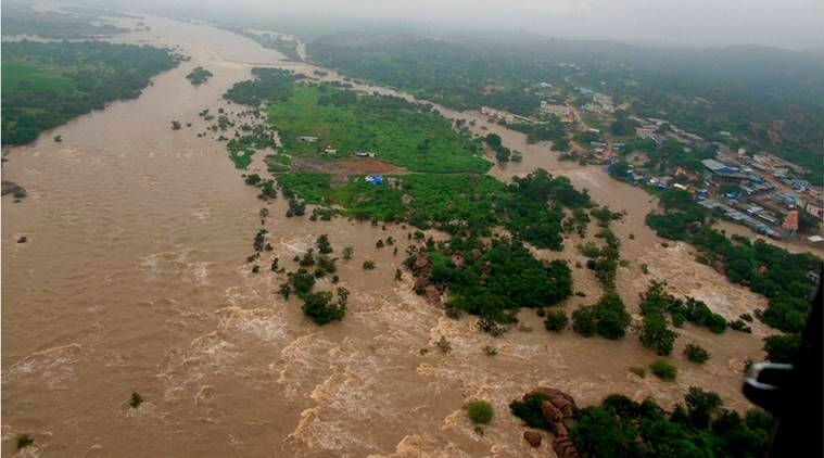 Telangana floods, Floods, Telangana rains, Godavari, Godavari floods, K Chandrasekhar Rao, news, latest news, Telangana news, Andhra news, India news, national news, Godavari river, Telangan flood prone