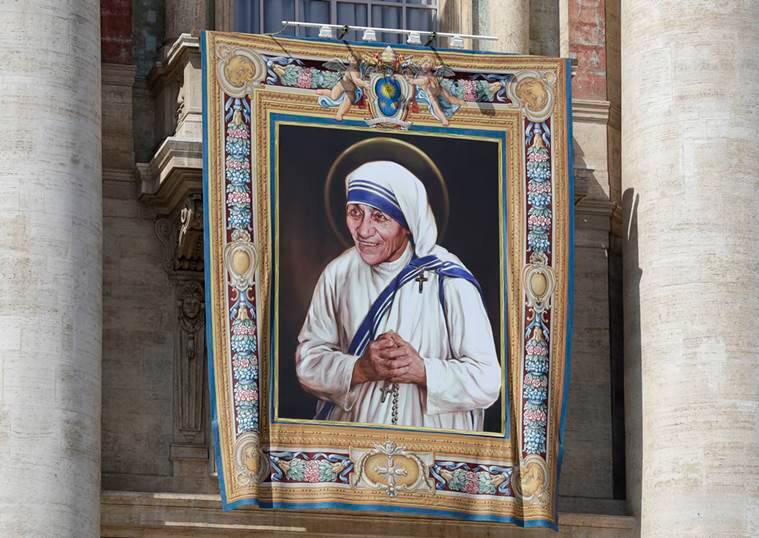 mother teresa, mother teresa paintings, mother teresa paintings, mother teresa exhibition, canonization, mother teresa canonization, rare mother teresa paintings, kolkata news, india news, latest news, indian express