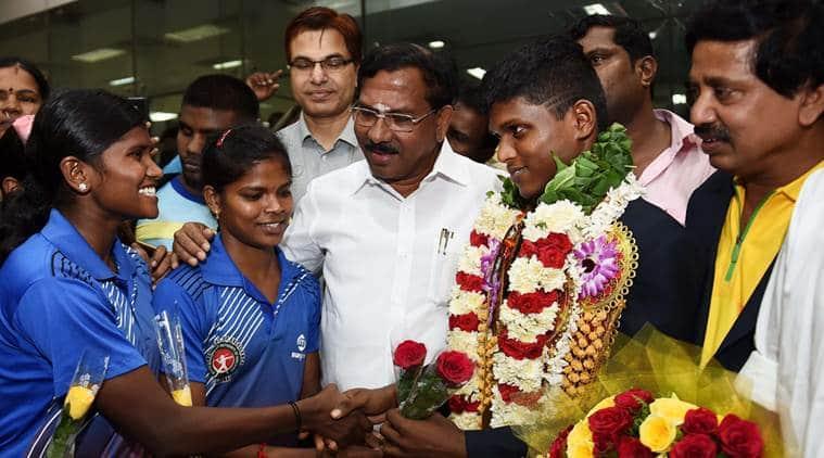 Thangavelu Mariyappan who won the gold in the Paralympics in Rio de Janeiro
