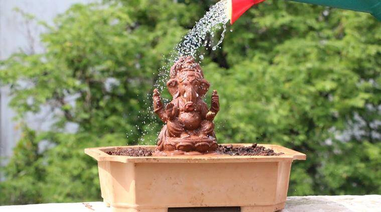 ganesh, ganesha, ganesh chaturthi, ganesh idol, tree ganesh, exo friendly granesh idol, ganesh idol grows into tree, mumbai ganesh chaturthi, mumbai news, latest news