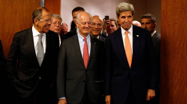US, Russia, John Kerry, truce plan, agreement, talks, syria ceasefire, syria civil war, syria war, internal disturbance, Russia-US deal, Russian Foreign Minister, Sergey Lavrov, US state secretary, John Kerry,world news, indian express