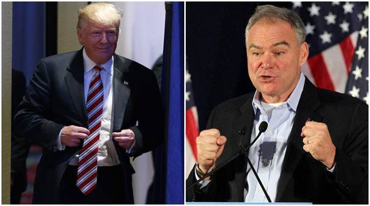 Tim Kaine, Donald Trump, trump, India, Pakistan, Indo-Pak ties, India-Pakistan, Indo-Pak relationship, Donald trump investment, Trump investment in india, Hillay clinton, Clinton, US, Unites states, Clinton's VP candidate, US news, india news, indian express news
