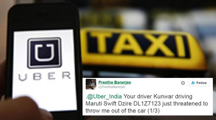 Uber driver threatened to throw the girl out of the cab after she asked him to adjust the AC