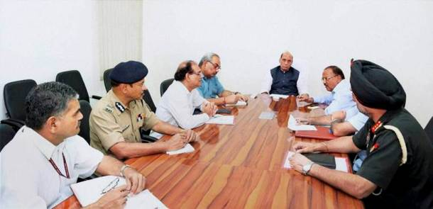 High-level security meet at Home Minster Rajnath Singh's residence