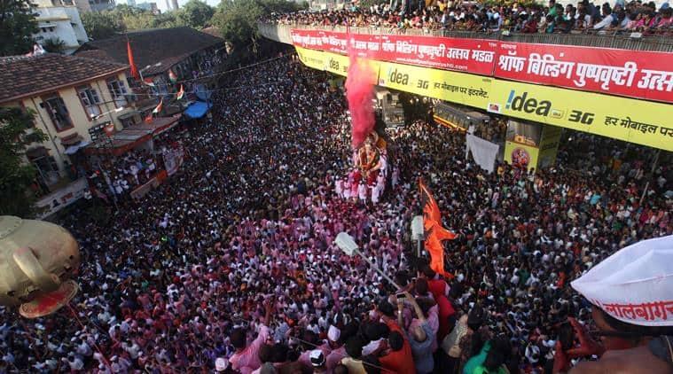 The day of visarjan. (Express photo by Dilip Kagda)