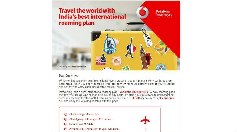 Vodafone, Vodafone India, Vodafone roaming, Vodafone Iroamdaily, jio international roaming, Vodafone international plans, International mobile plans india, Iroamdaily plan, Iroamdaily pack, International roaming plans, Reliance jio international roaming, Airtel international roaming, technology, technology news
