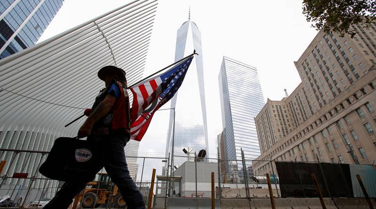 9/11 attack, 9/11 tribute, world trade centre, twin towers, new york, united states, world news, indian express news