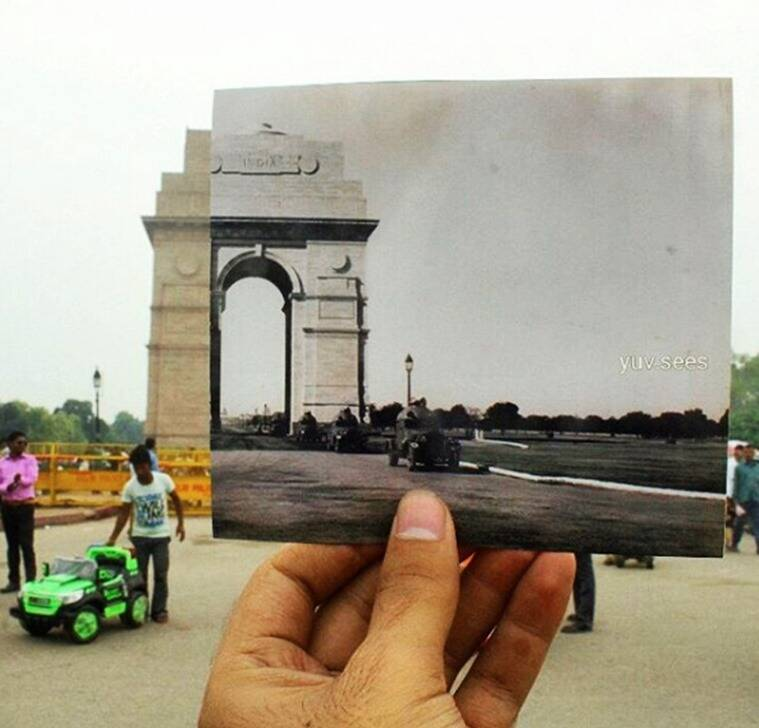 Capturing India gate. (Source: Yuv.sees/Instagram)
