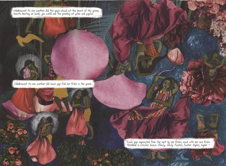 Panels from Sauptik: Blood and Flowers — Raas Leela. (Source: Mark Sequeira)