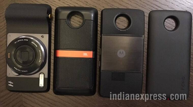 Moto, lenovo, moto z, moto z play, moto z launch, moto z play india launch, moto z price, moto z play india price, moto mods, moto mods specs, moto mods price, moto mods price india, hasselblad mod price india, JBL speaker mod india price, smartphone, technology, technology news, indian express