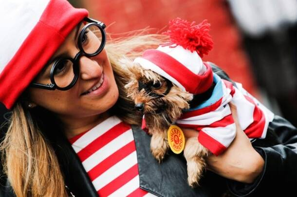 Donald Trump costumes ruled at this Halloween dog parade