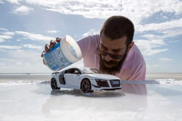 Audi, audi r8 photos, Felix Hernandez photos, Felix Hernandez small model photos, toy car audi a8 photoshoot, Felix Hernandez Dreamphography, Felix Hernandez, Felix Hernandez photos, trending photos, viral photos, indian express