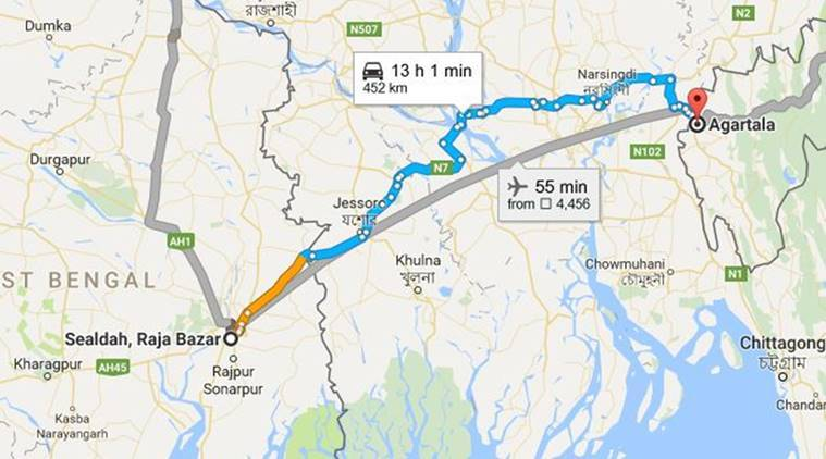 Train from Agartala to Sealdah begins journey | India News ... on sea route map, india hill stations map, india train tickets, asia route map, india education map, india travel map, air india route map, india high speed rail map, india delhi map, india map map, india railway system, us amtrak route map, express route map, washington dc metro silver line map, india train cars, railroad route map, india city map, bombay route map, travel route map, india chennai map,