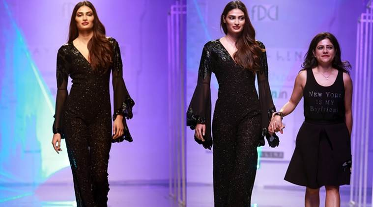 Chanderi Weaves Metallics Stand Out At Aifw Ss 17 Lifestyle News The Indian Express