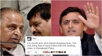 It seems to be Akhilesh Yadav vs Mulayam Singh, and Twitter is 'bursting' with trolls