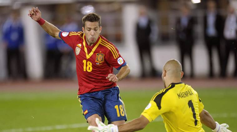 Jordi Alba, Alba, Alba Spain, Spain World Cup qualifier, spain squad, Spain football, La Roja, Spain Albania, Nacho Monreal, Nacho, football, football news, sports, sports news