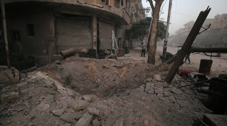 aleppo, syria aleppo, aleppo bombing, united nations, un syria, un, syria, syria news, russia syria, china syria, military flights over syria, world news, indian express