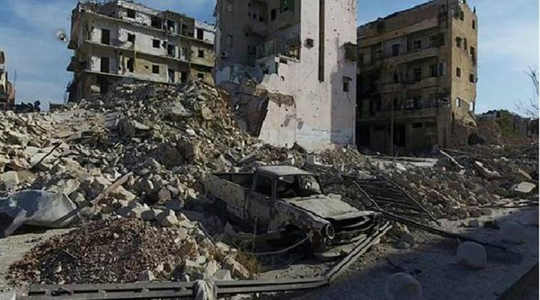 Syria, Syrian war, Syrian civil war, Aleppo, Aleppo airstrikes, shelling in south Syria, Syria news, world news, latest news, Indian express