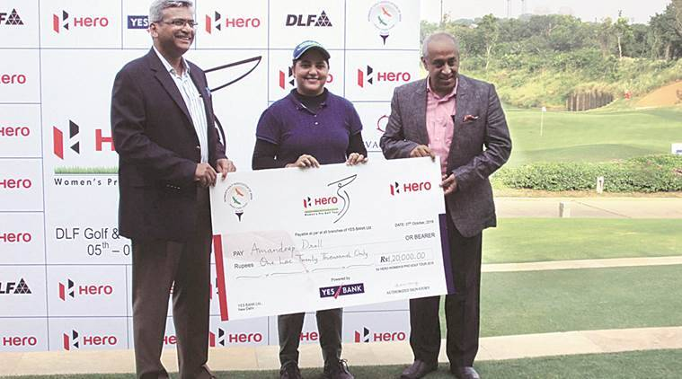 gurgaon woman golfer, amandeep drall, amandeep drall gurgaon, amandeep drall gurgaon, gurgaon woman golfer, sports news, indian express,