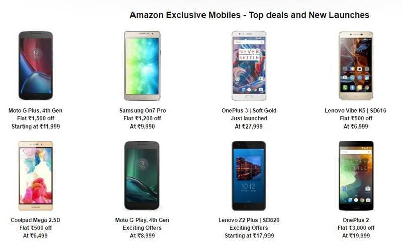 Amazon Great Indian Sale: Check out the deals on Redmi Note 3, Moto G4 Plus and other