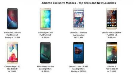 Amazon Great Indian Festival: Moto G4 Plus, Xiaomi Redmi Note 3 and other smartphone deals