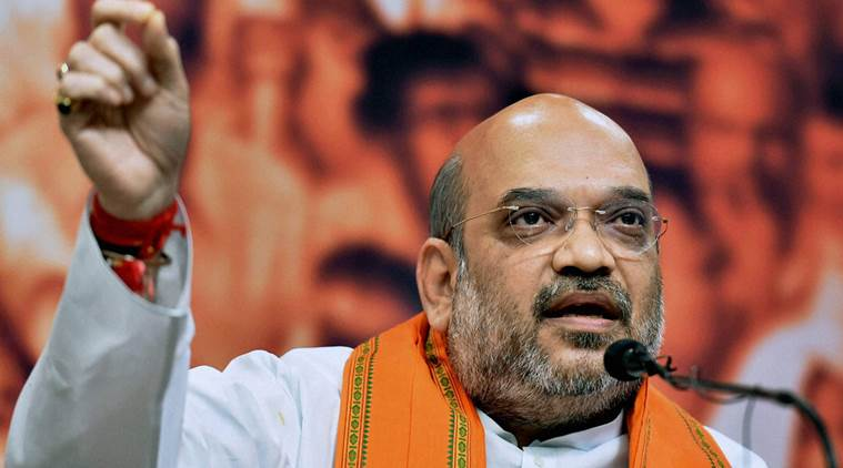 Amit shah, sham, BJP, BJP president Amit shah, Modi, PM Modi, narendra Modi, Amit shah haryana, Amit shah on Modi government, modi government, NDA, Agroha Vikas Trust, GST, Tax, saled, india, india news, indian express news