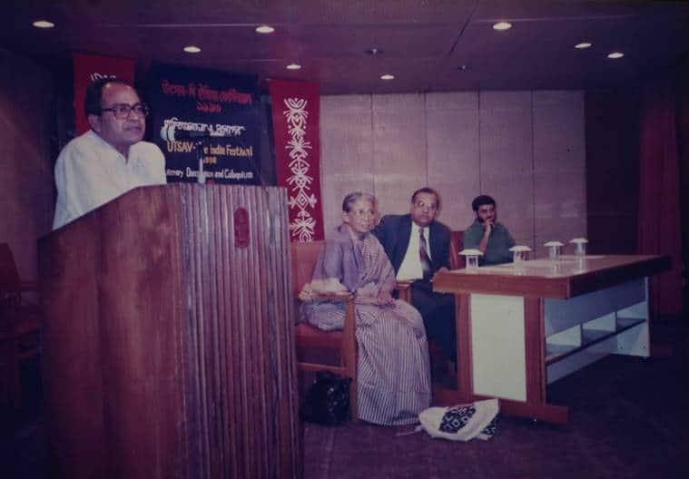 The two friends at a seminar in Dhaka, 1996. (Express photo by Tashi Tobgyal)