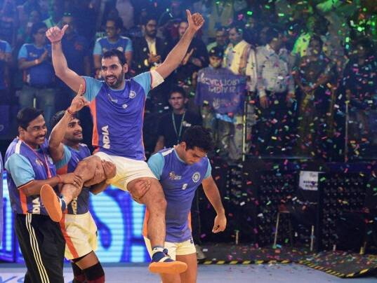 Anup Kumar, Anup, India vs Iran, india vs Iran final, India vs Iran final photos, India Iran photos, India Kabaddi World Cup 2016, Kabaddi World Cup 2016, Kbaddi World Cup final photos, Kabaddi final photos, kabaddi photos, Kabaddi