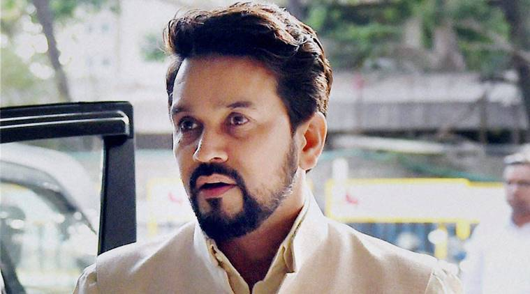 New Delhi: File photo of BCCI President Anurag Thakur. The Supreme Court on Friday said that the BCCI cannot enter into contracts above a monetary ceiling which now has to be fixed by Lodha panel. PTI Photo (PTI10_21_2016_000139A)