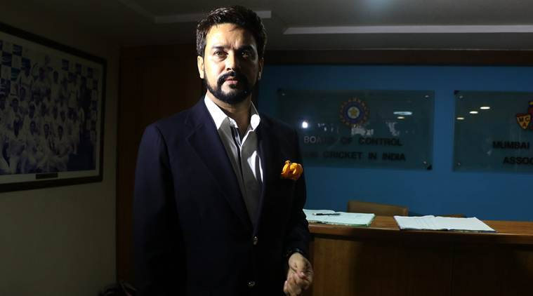 BCCI President Anurag Thakur at the 87th AGM of BCCI at the BCCI headquarters in Mumbai on Wednesday. Express Photo by Prashant Nadkar. 21.09.2016. Mumbai.
